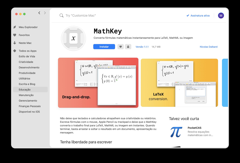 Reconhecimento de manuscrito no MathKey