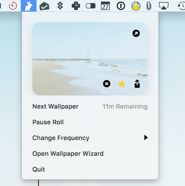 Change wallpapers in menu bar