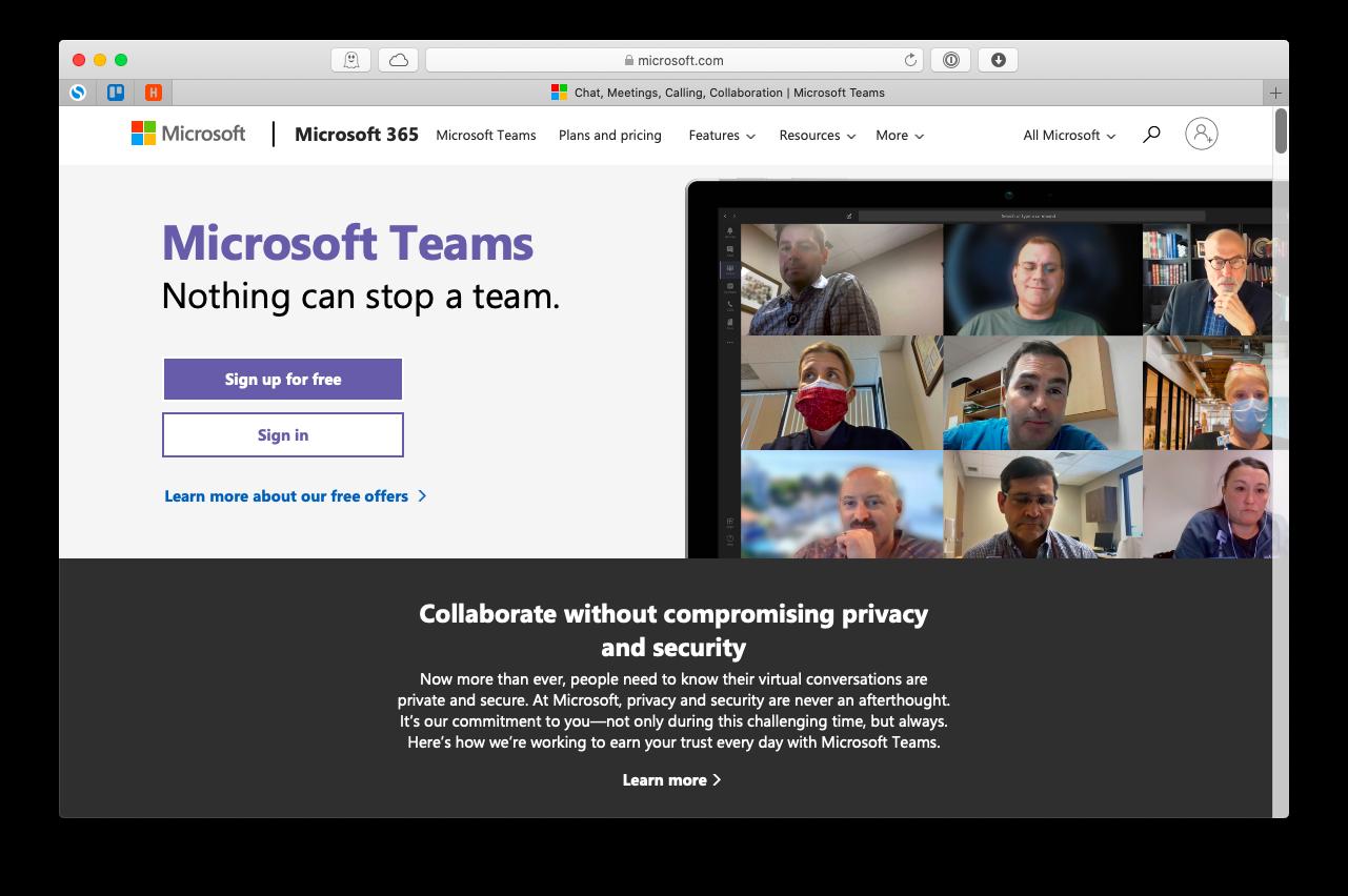 Microsoft Teams conference call Mac