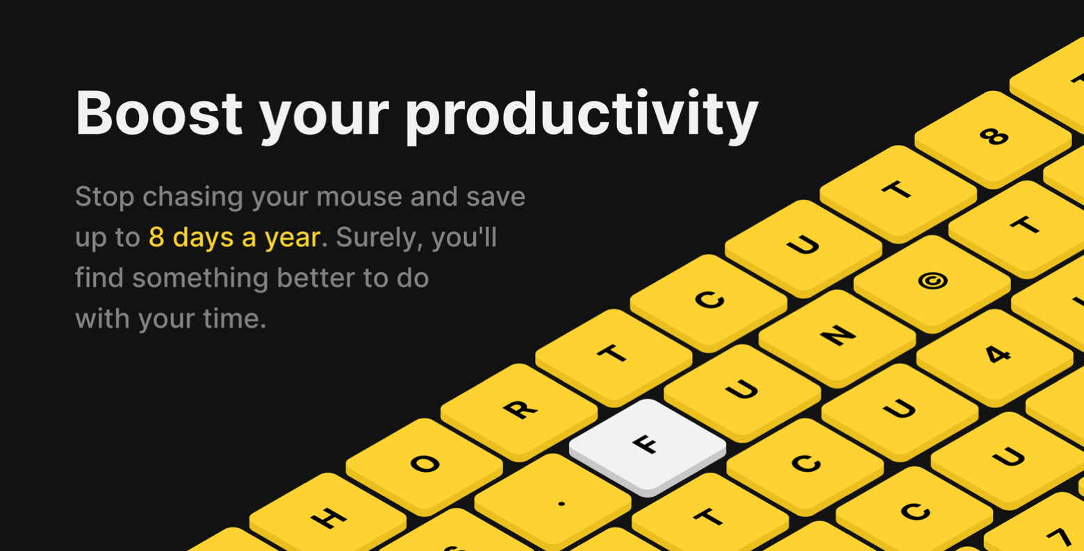 Mouseless keyboard shortcuts