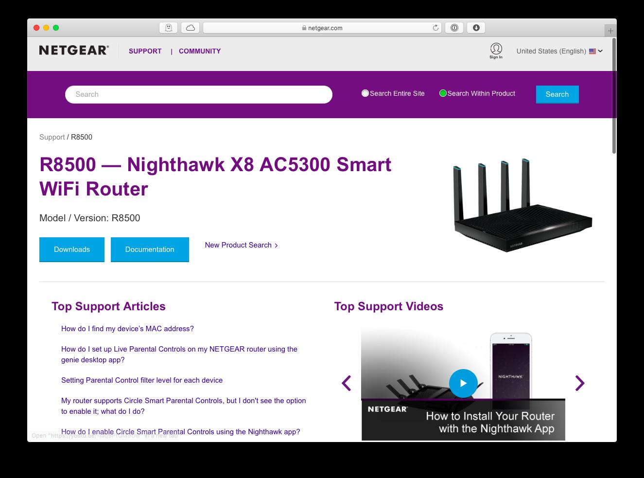 Netgear Nighthawk X8 AC5300 wifi router