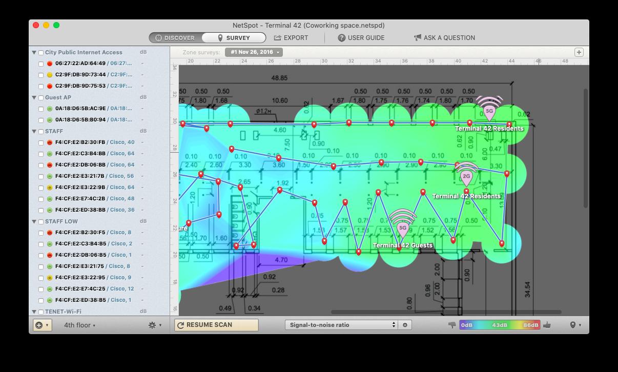 NetSpot scan WiFi map Mac