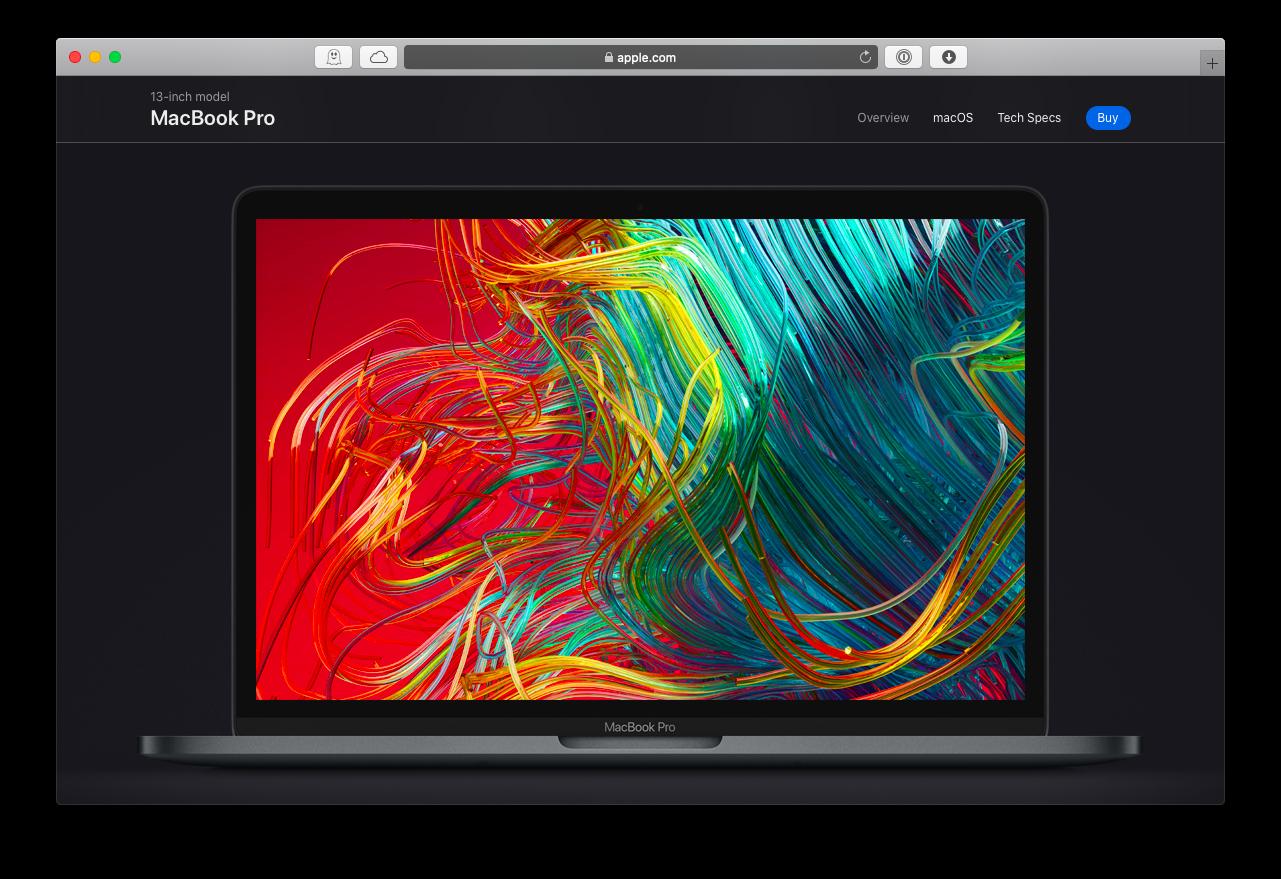 new MacBook display retina