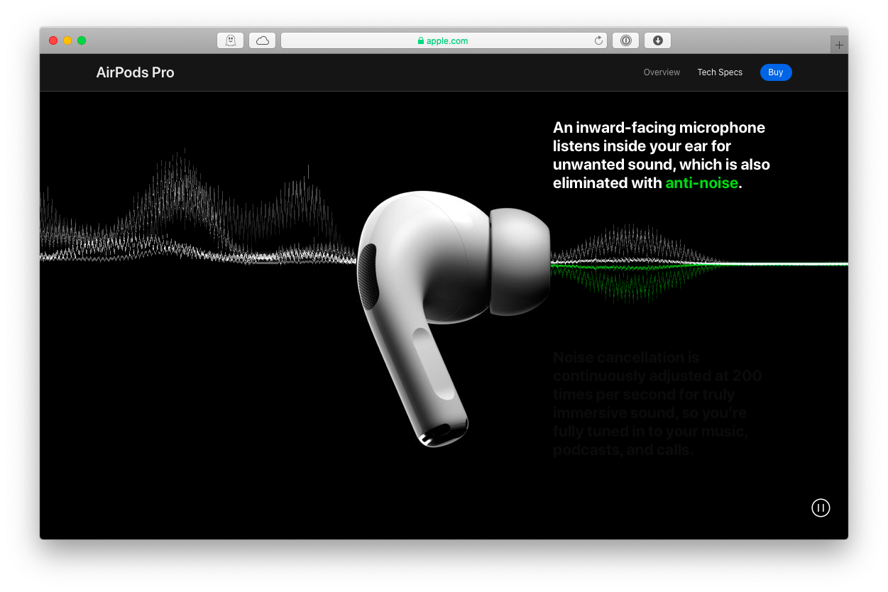 noise cancellation AirPods Pro Mac