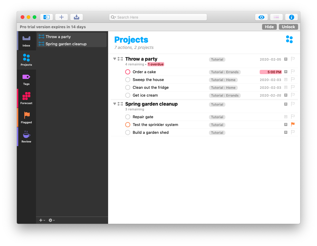 Omnifocus to do app Mac task manager