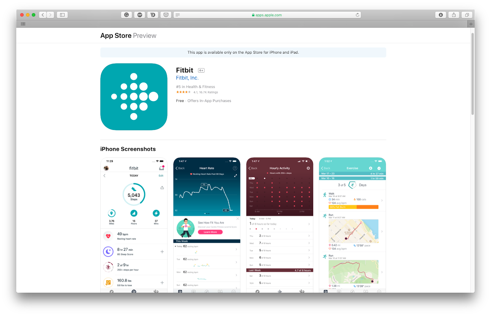 pair Fitbit with iPhone