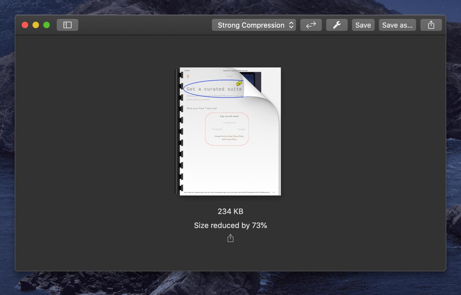 PDF compression app PDF Squeezer