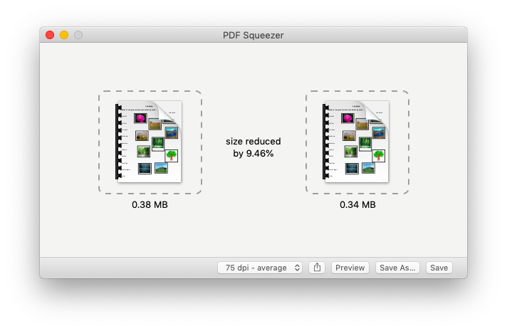 Edit PDF file size