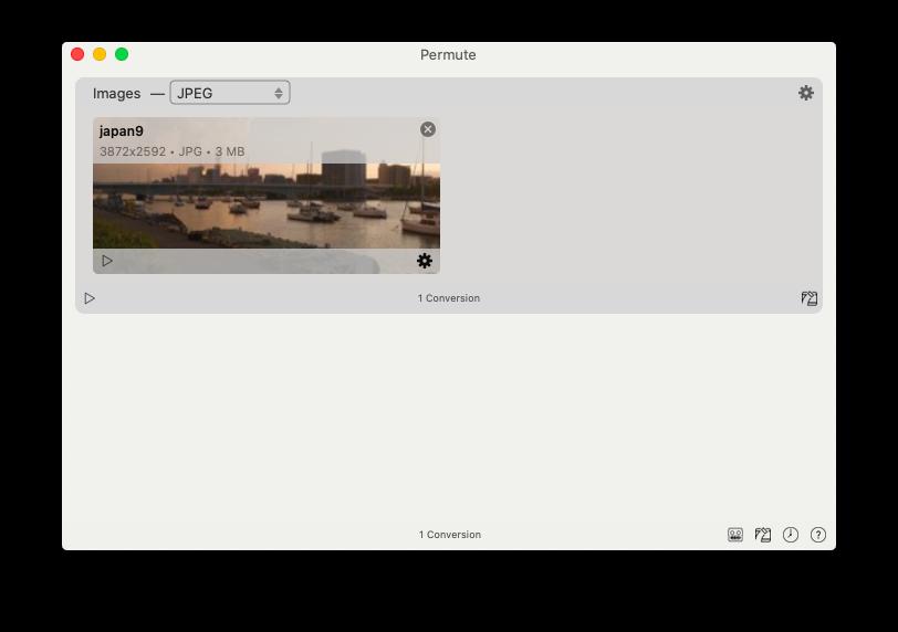 Permute app Mac change jpg format
