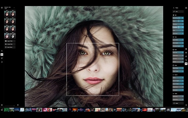 Retouch photos in Polarr app