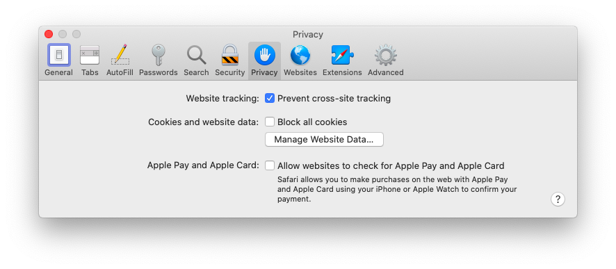 prevent tracking Safari Mac Apple