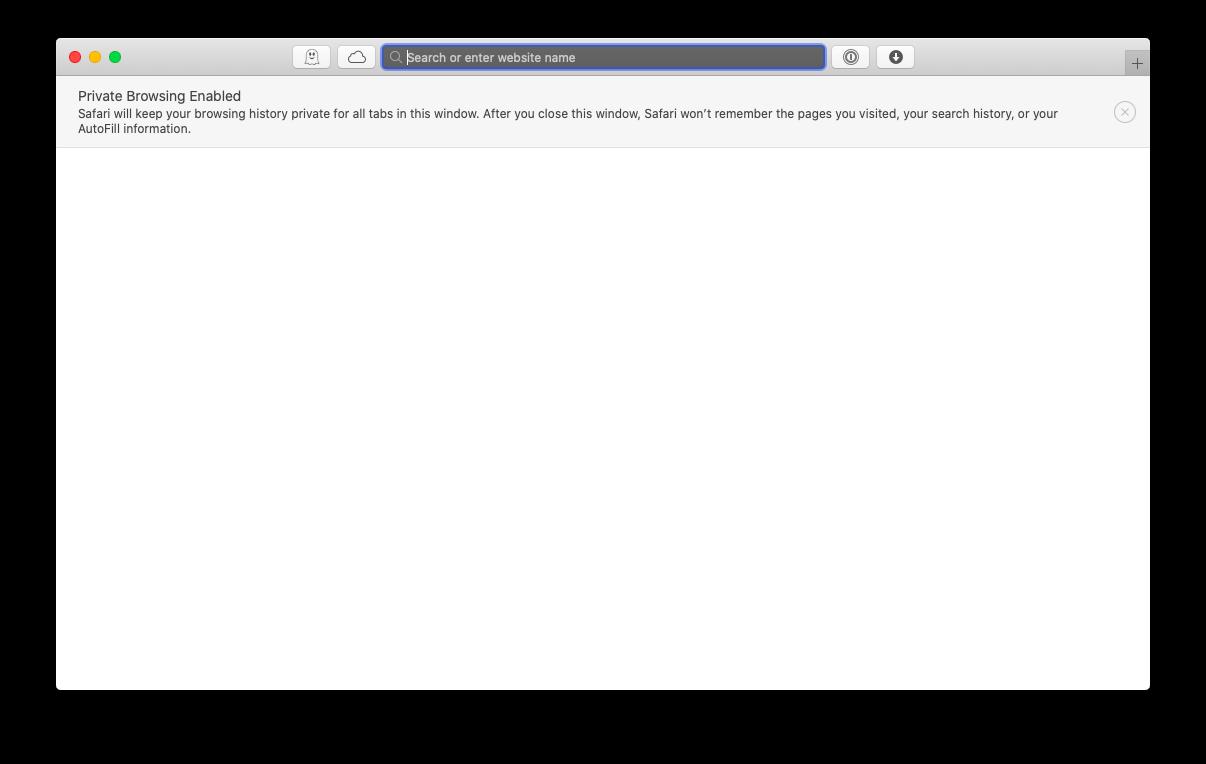 private browsing Safari Mac