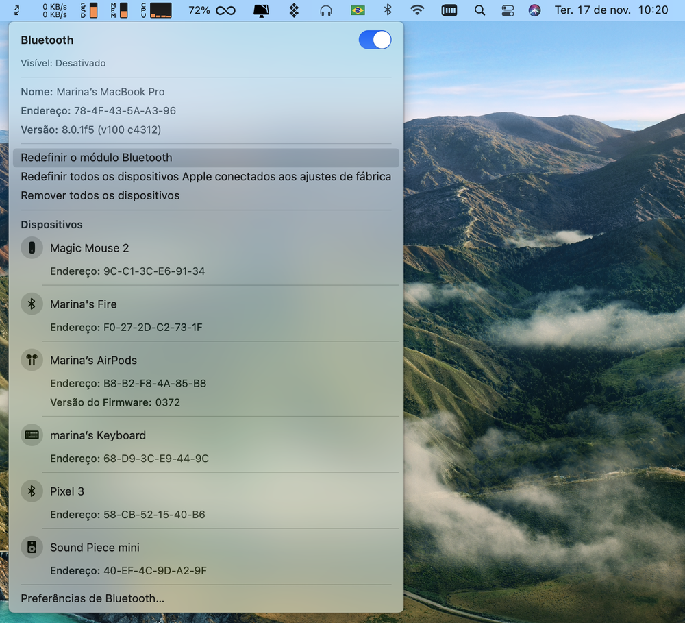 Aba Bluetooth no macOS Big Sur