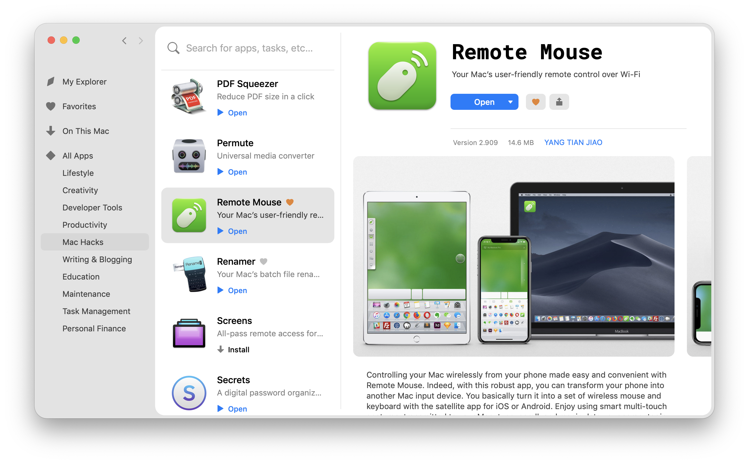 remote access mac files iphone