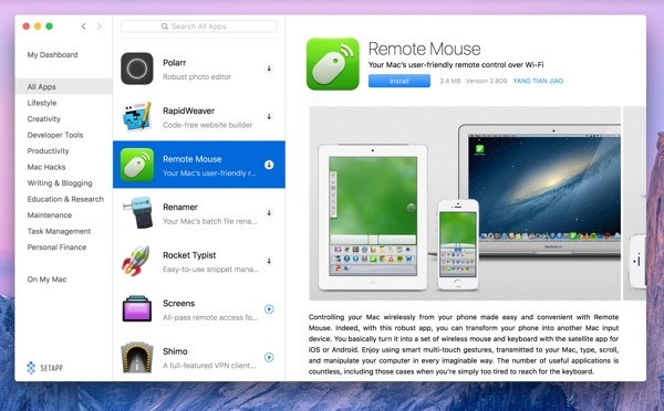 Remote Mouse on Setapp