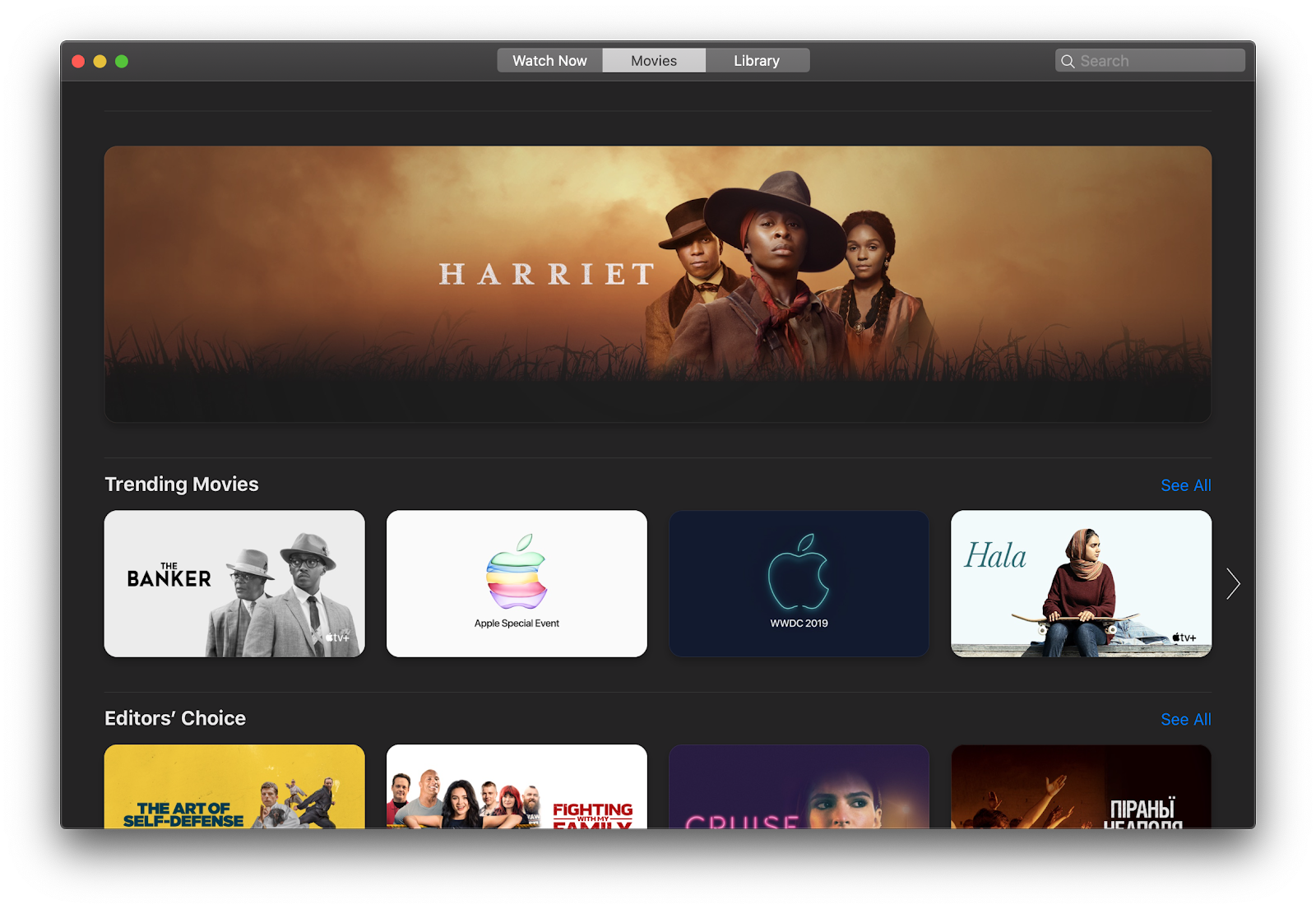 rent and buy movies on mac