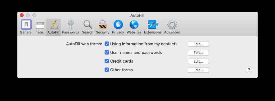 safari autofill iCloud keychain