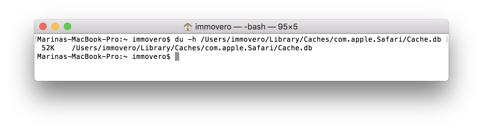 Clean cache in Safari