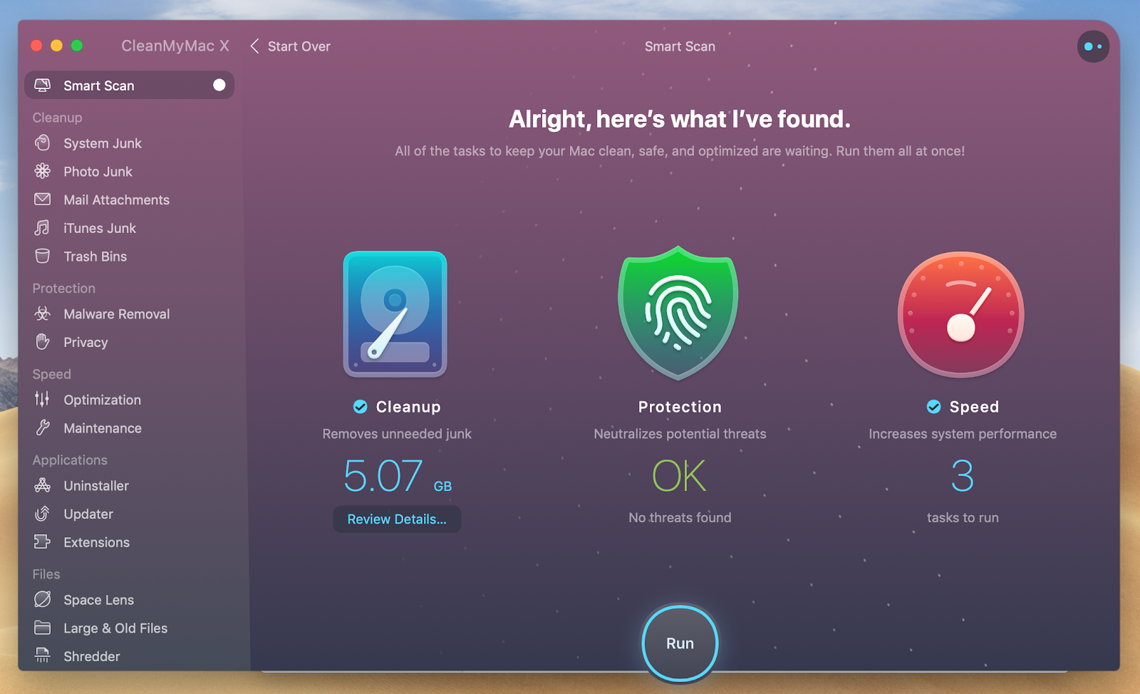 scan you Mac with CleanMyMac X