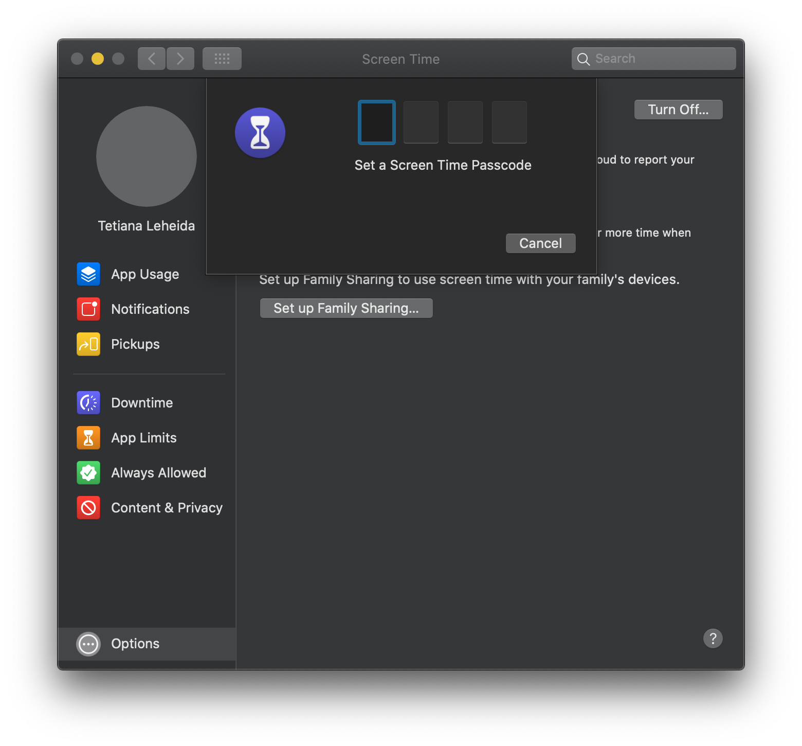 set parental controls on macOS Catalina