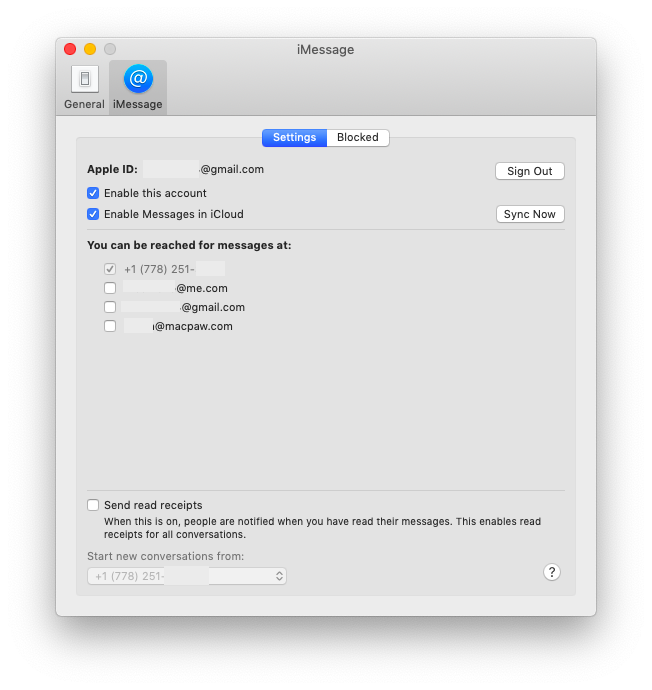 set up iMessage on Mac