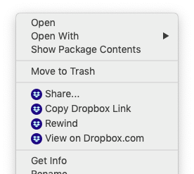 share dropbox file mac