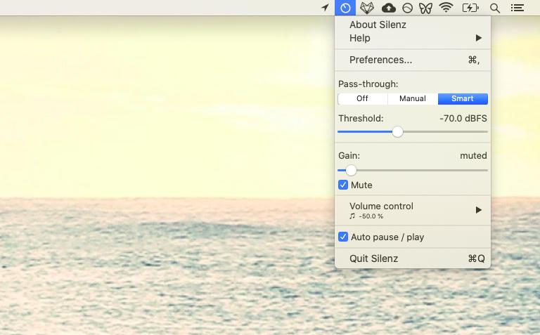 Silenz audio app sound mixer Mac