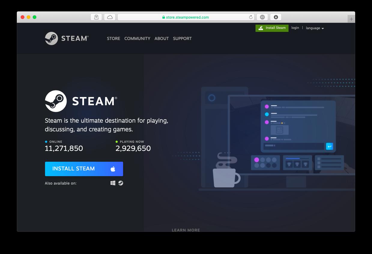steam install mac games