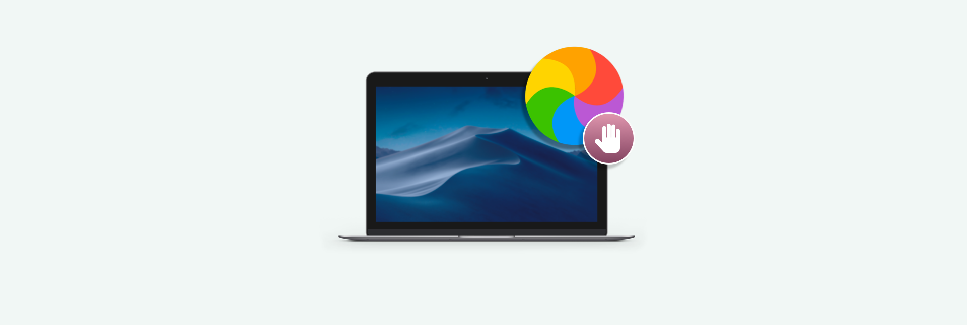 How to stop the spinning color wheel on a Mac