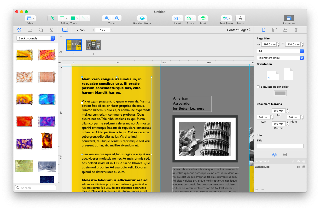 macOS printing app