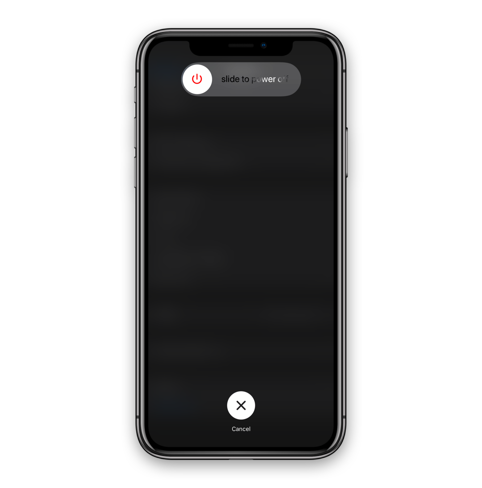 swipe to turn off iPhone