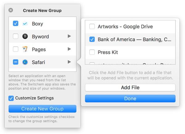 Create Switchem group