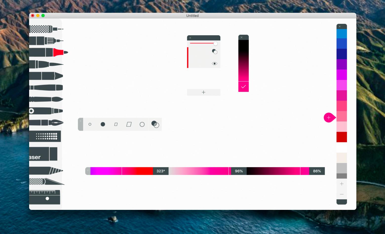 Tayasui Sketches app drawing Mac