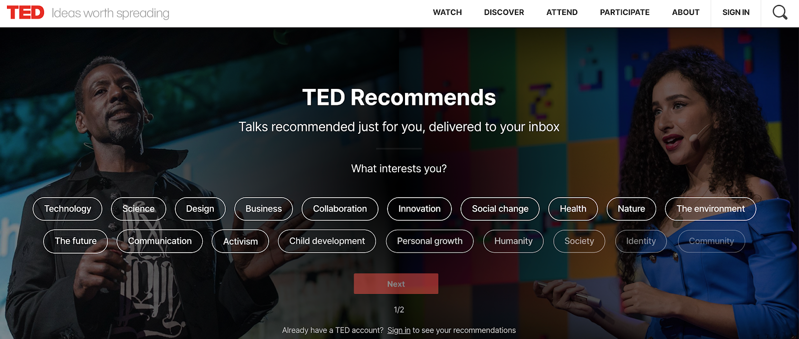 Ted, an alternative to watch inspirational video