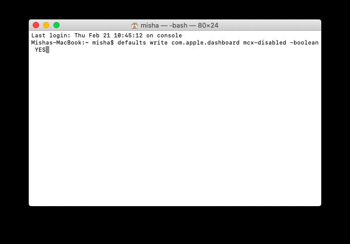 Mac terminal usage