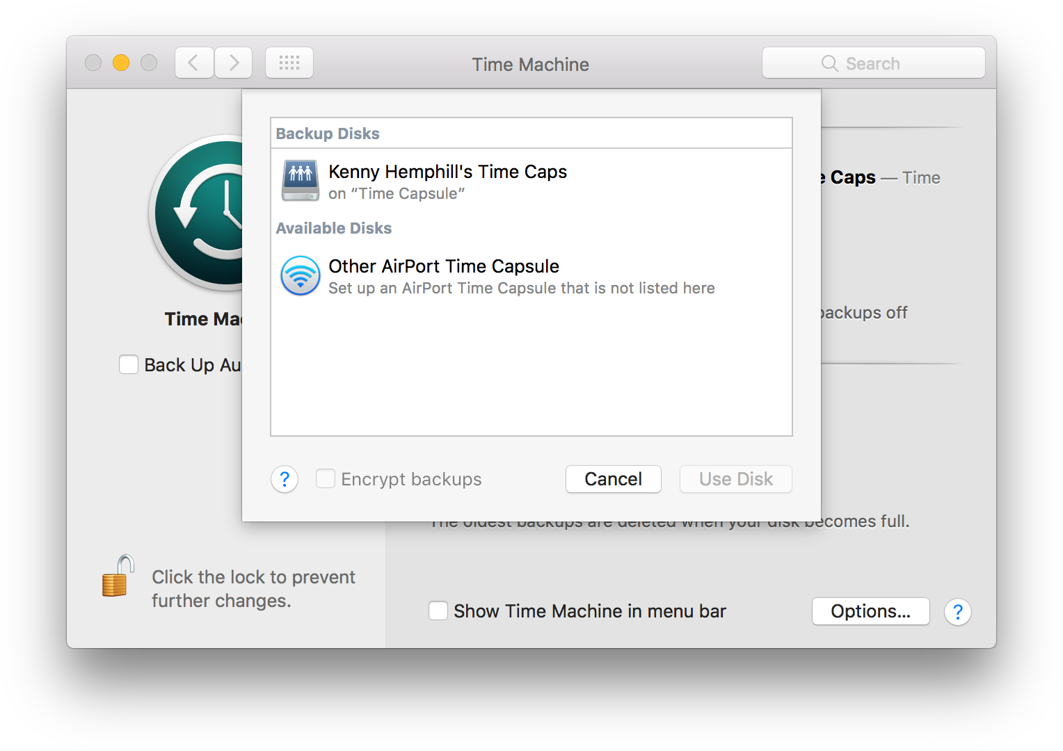 Downgrade from macOS with Time Machine utility