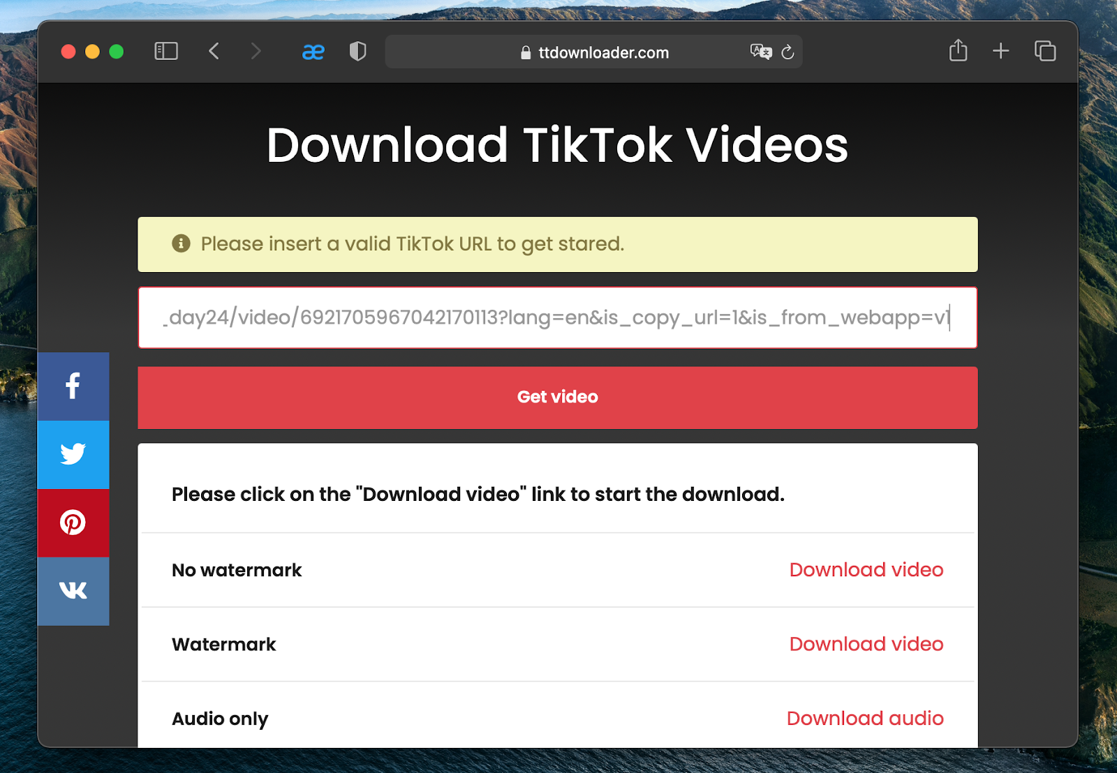 a free TikTok downloader