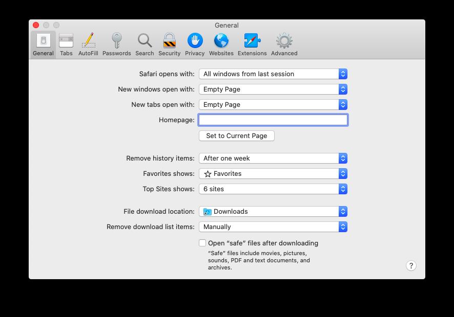 check download open Safari Mac