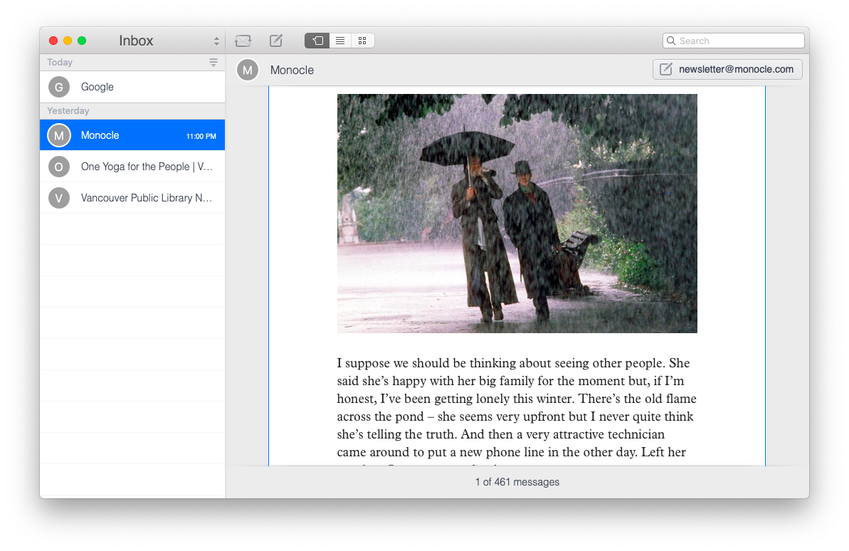 Unibox email client messaging app Mac