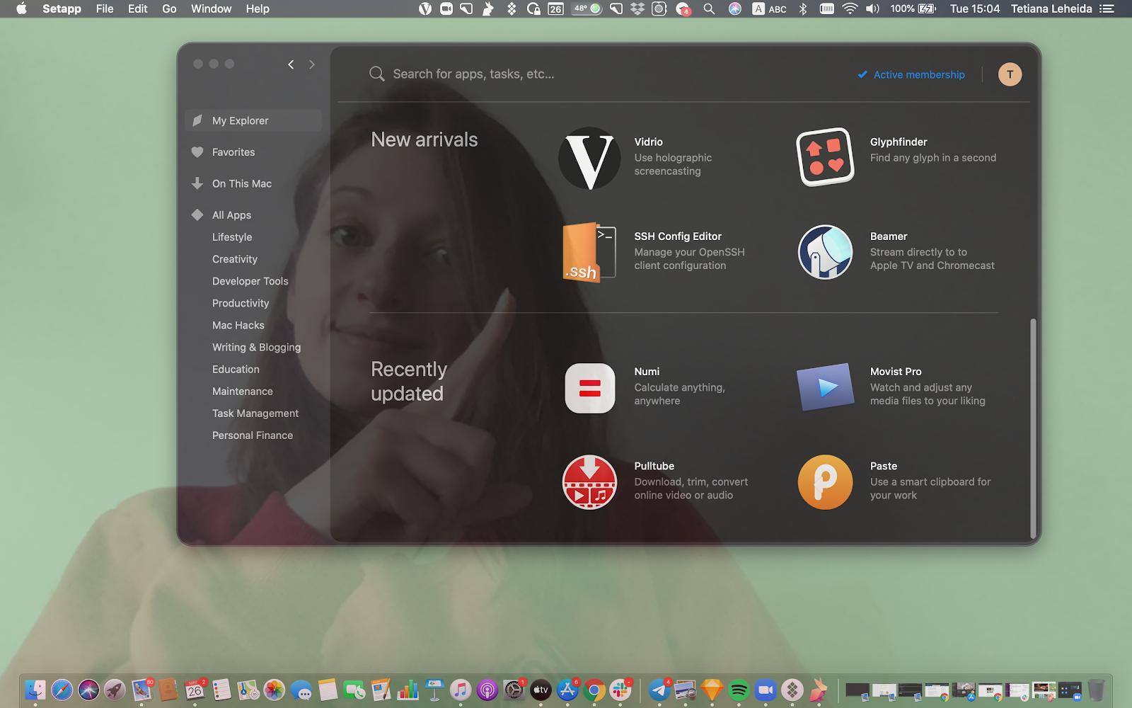 Vidrio app holographic screen sharing