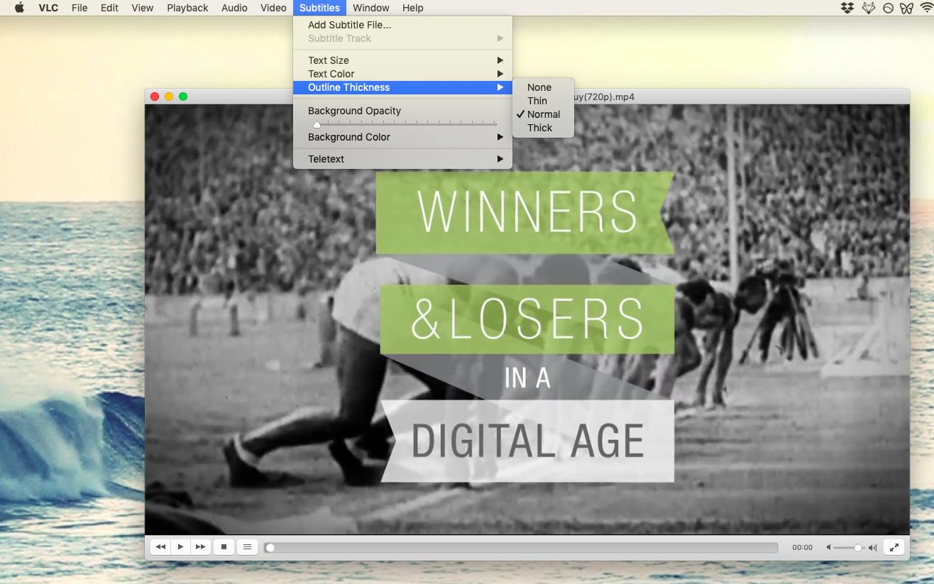 VLC subtitles menu add Mac player media