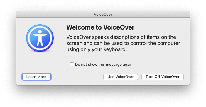 VoiceOver Mac utility