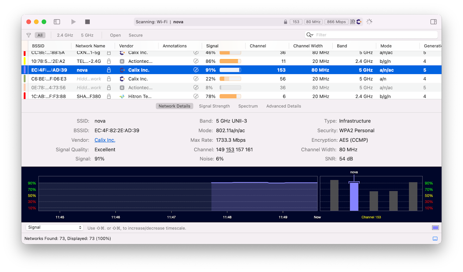WiFi Explorer analyze network Mac