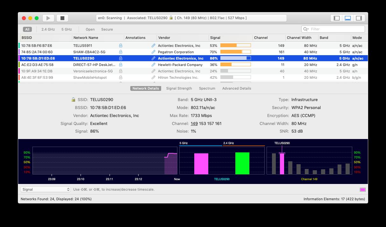 wifi explorer internet analyzer