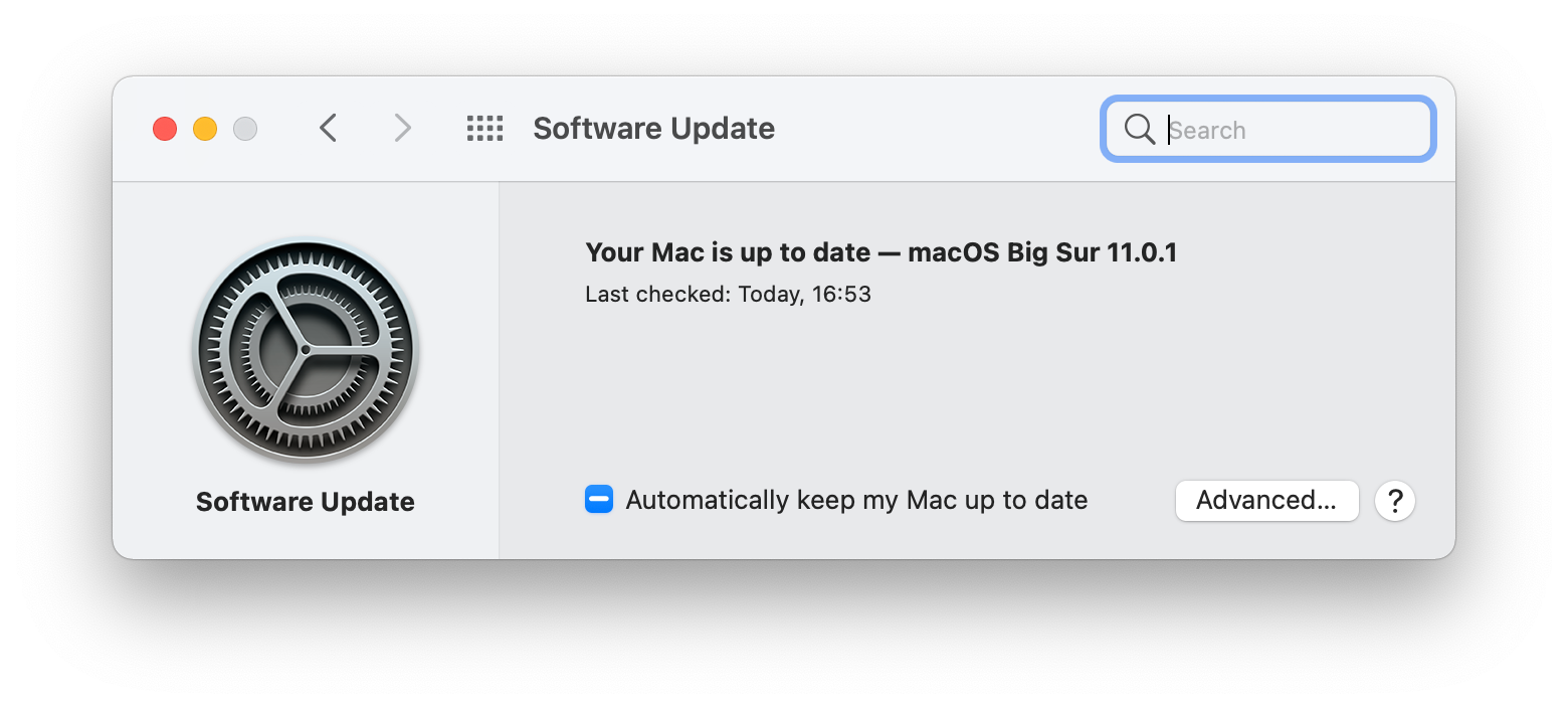 update macOS Mac new