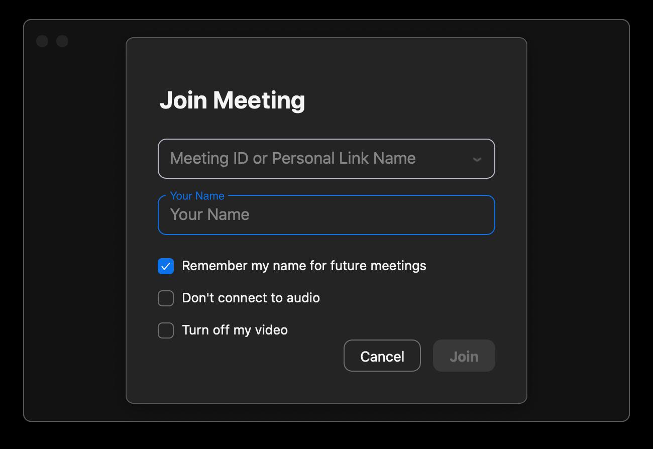 Zoom app join meeting