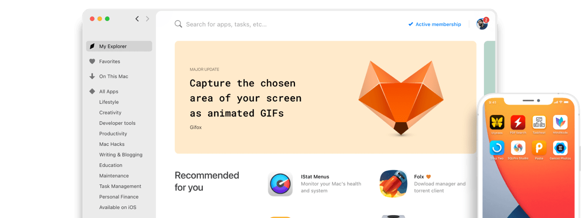 Setapp screenshot
