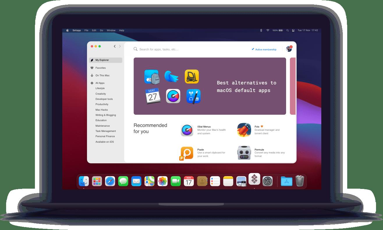 Macbook with Setapp