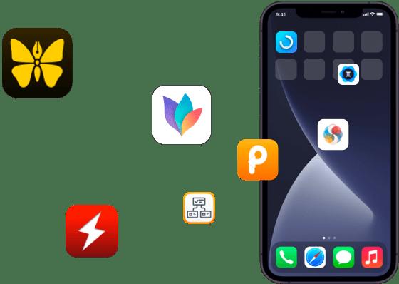 iOS app on iPhone